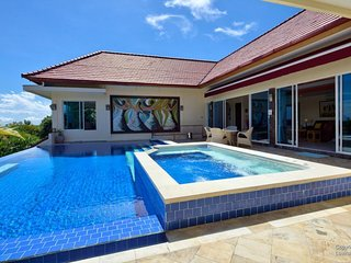 North Bali Lovina hillside Villa Ebel with ocean & mountain view