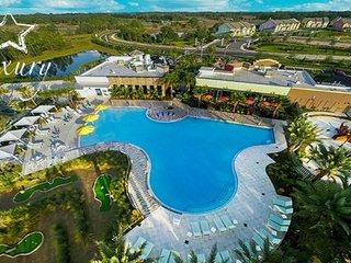 Home near Disney & Golf w/ LCD TV, Resort Pool, Playground, Gym & Volleyball