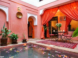 Colorful Riad in central Marrakech, Marrakesh