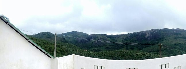 VIEW OF THANGAL HILLS ( ONE OF THE LAND MARK OF VAGAMON)AS BACK GROUND - FROM THE TERRACE