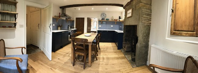Panoramic shot of the kitchen diner