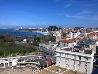 T3 vue océan, parking à 2min de la plage, Biarritz