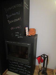 En la chimenea, con tiza, puedes dejar un mensaje.
