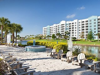 2BR Unit by Disney Universal Studios Seaworld w/ Pools Spa Bar Gym BBQs Gameroom