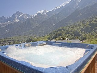 Piste-side Chalet with Hot tub.