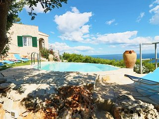 Holiday house to Santa Maria di Leuca in Salento with pool and view panoramic