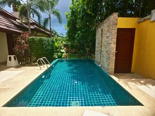 3 bedroom house with private pool and waterfall in Naiharn