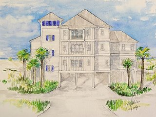 Morning Tide Beachfront 8 Bd 10.5 Ba, Priv Pool, Elevator, Handicapped Acc