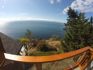 The Best Ocean Front View Deck in Sooke