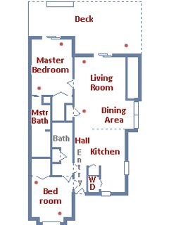 Floor plan of our unit