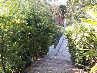some steps have to climb to entrance rest