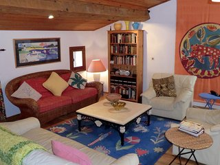 The comfortable living-room.