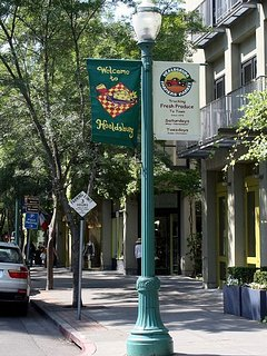 Downtown Healdsburg is a shopper's delight.