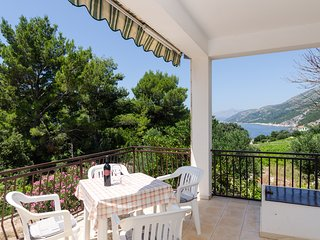 Holiday Home Katica- Three Bedroom Apartment with Terrace and Sea View