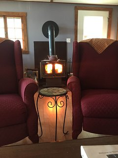 2016 added wood stove for cool nights