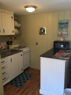 Duplex back unit kitchenette.