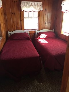 Front house: Twin beds (sleeps 2 - 4 in this room)