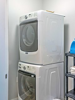 The convenient in-unit laundry machines will keep your clothes fresh and clean during your entire stay!