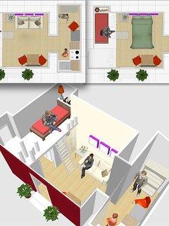 Piantina in 3D della Suite Lojacono