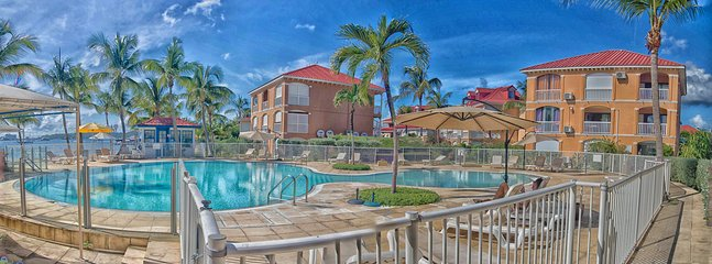 A Gorgeous view on the pool. A dazzling views of the pool and the lagoon