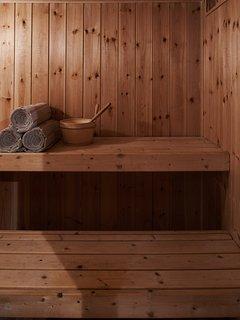 Sauna in the cellar.