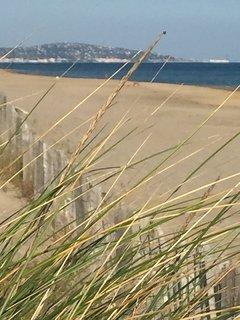 The beach looking towards Sete