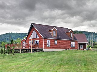 NEW! Lakefront 4BR Ticonderoga 'Log Chalet' on 8 Acres
