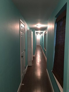 Long hallway provides access to each separate room.  NOT a shotgun.