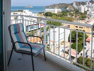 Apartamento con balcon y vista al Mar 1109RES