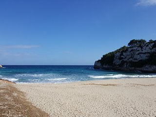 Strandhaus in erster Linie, Meerblick, Cala Romantica