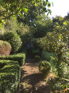 The traditional listed walled garden, adjoining Lord Mountbatten's 100 acre deer park estate.