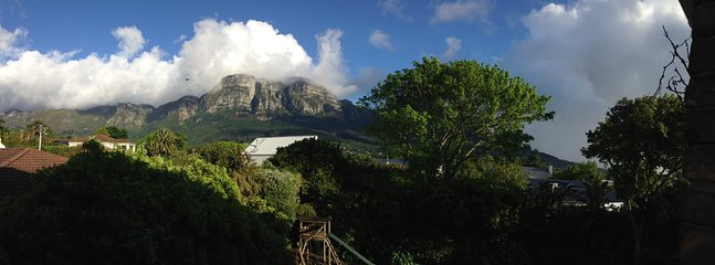 View from the loft with Kirstenbosch Gardens in the forground