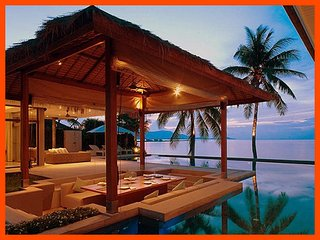 Villa 192 - Beach front luxury (3 BR option) continental breakfast included, Plai Laem
