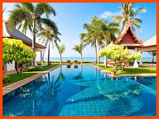 Villa 89 - Beach front luxury with Thai chef service and shared gym, Mae Nam
