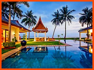 Villa 26 - Beach front luxury with Thai chef service and shared gym, Mae Nam