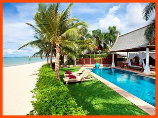 Villa 96 - Beach front luxury with Thai chef service and private gym, Mae Nam