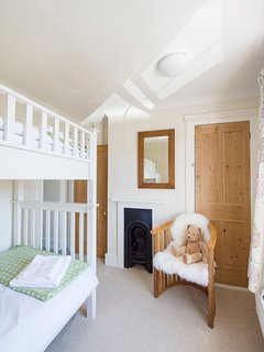 Cozy twin room overlooking the flint walled garden