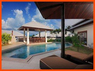 Villa 53 - Walk to beach swim play drink eat sleep walk to villa jump in pool, Choeng Mon