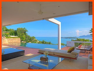 Villa 57 - Unique and stylish with infinity pool and sea views, Choeng Mon