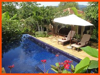 Villa 188 - Walk to beach swim play drink eat sleep walk to villa jump in pool, Choeng Mon