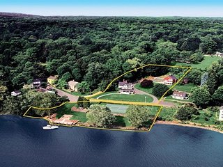 Stunning Waterfront Estate on Connecticut River at Historic Knowles Landing