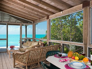 Oceanside Tower Villa is a magnificent ocean front property with fantastic views of the Caribbean waters and Caicos Banks, Providenciales