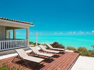 2-storey beachfront villa with sweeping sea views from every room, Leeward