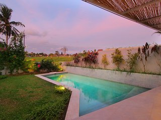 Cozy Style Villa with Rice field view in Canggu