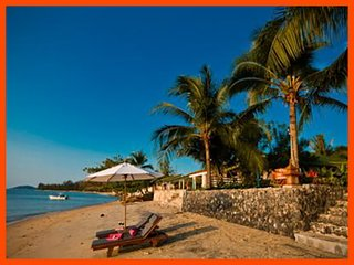 Villa 100 - Beach front (3 BR option) continental breakfast included