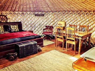 Deluxe Yurt on Private Peninsular in Yacht Harbour