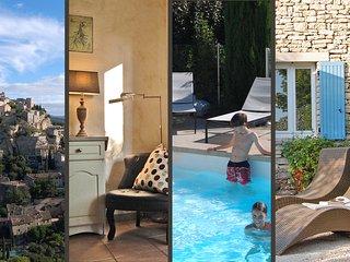 'Cyprès du Paradis' gîte à Gordes avec piscine