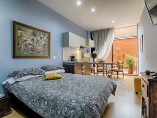 Designer Studio with Garden Terrace, Bogota