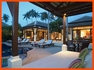Villa 10  - Beach front (1 BR option) private pool and sunset views, Plai Laem