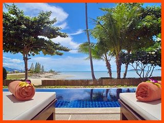 Villa 12  - Beach front (2 BR option) private pool and sunset views, Plai Laem